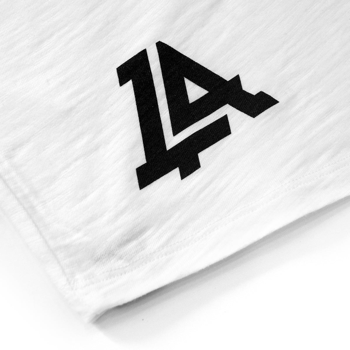 Lost Art Canada - black and white LOST monogram baseball tee back screen print view