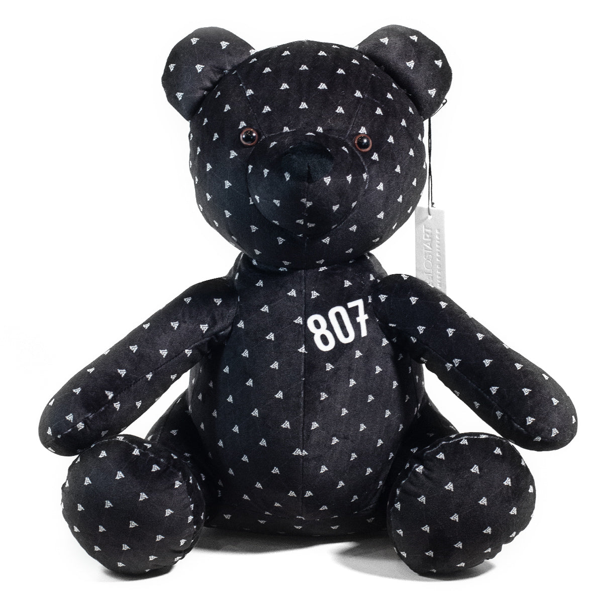 Lost Art Canada - black white patterned teddy bear front view