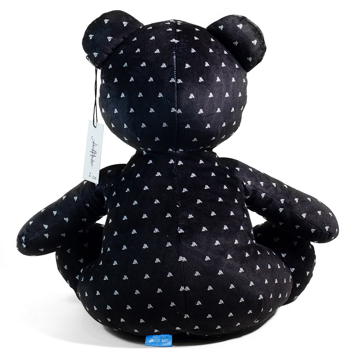 Lost Art Canada - black white patterned teddy bear back view