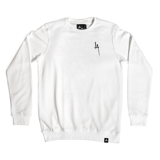 Lost Art Canada - white stay sharp crewneck sweatshirt front view