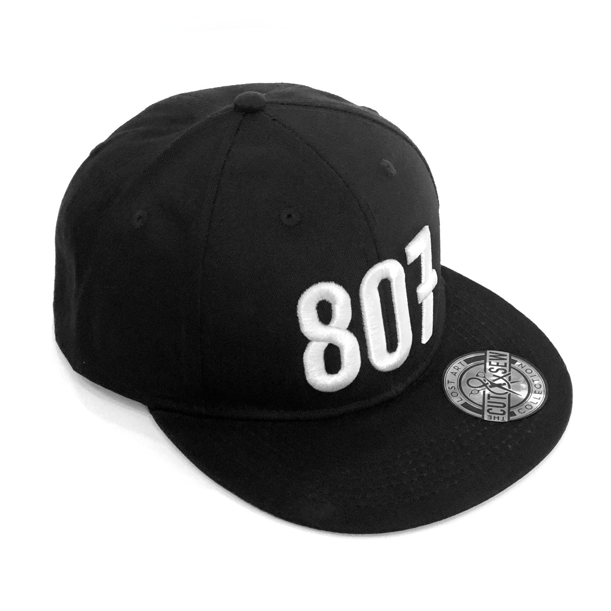 Lost Art Canada - white 807 black snapback hat front view