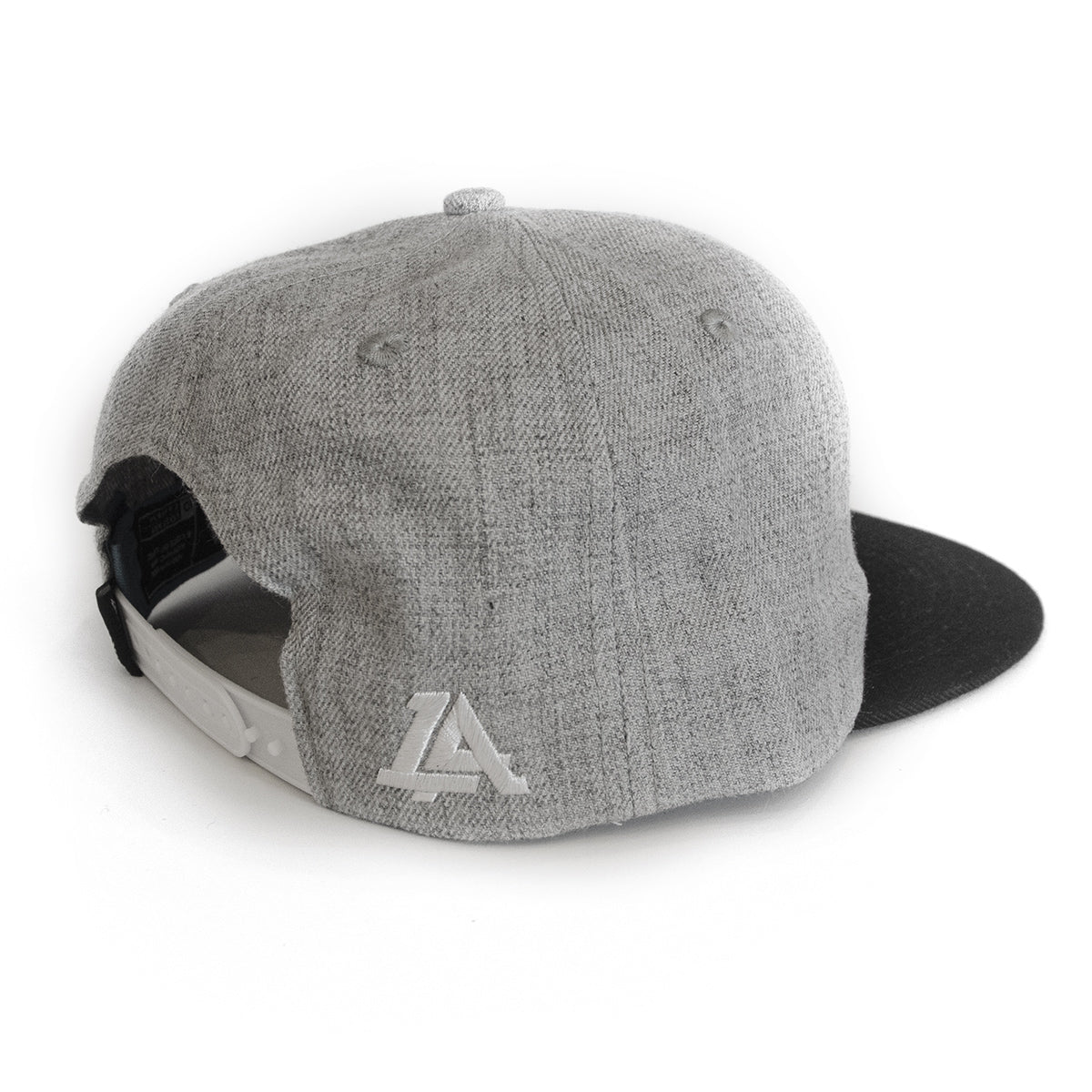 Lost Art Canada - white 807 grey wool mix snapback hat back view
