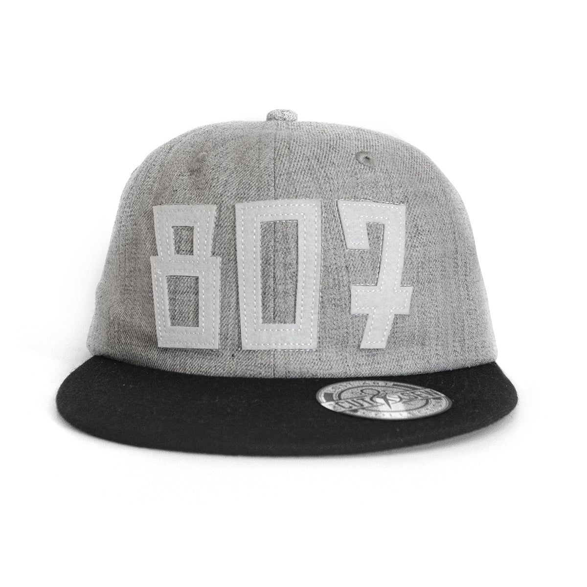 Lost Art Canada - white 807 grey wool mix snapback hat front view