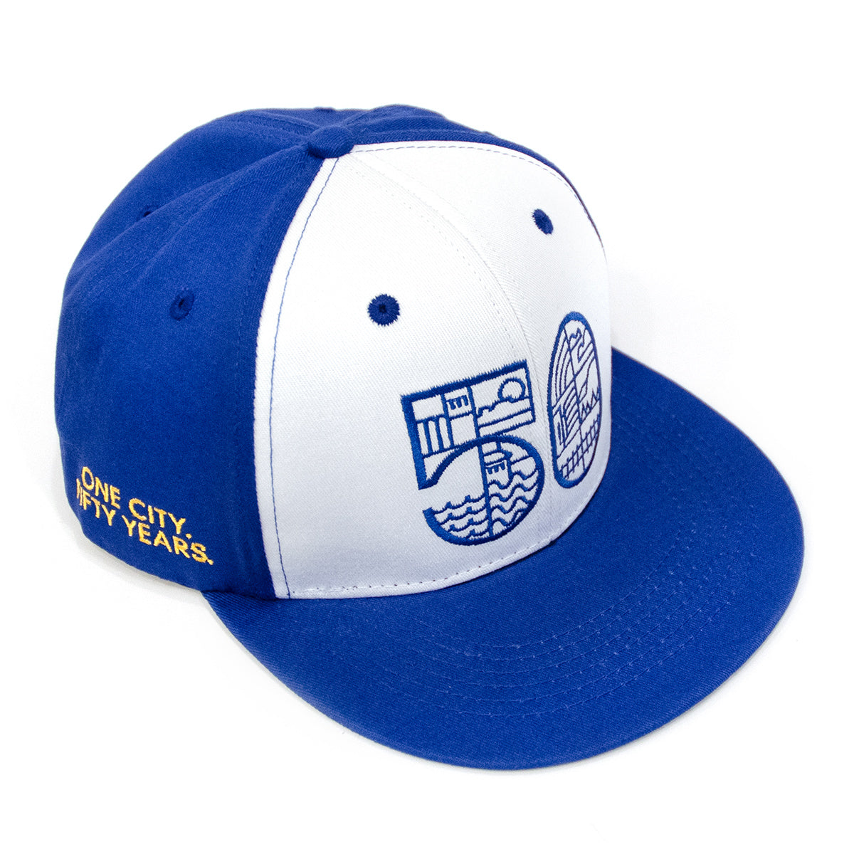 Lost Art Canada - blue one city snapback hat front view