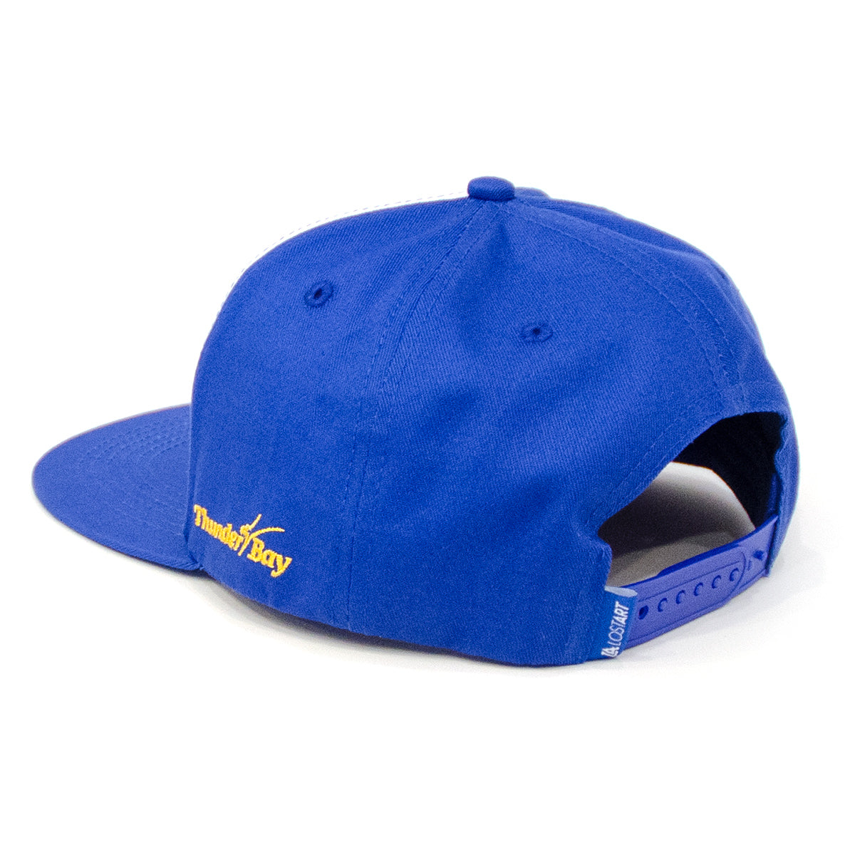 Lost Art Canada - blue one city snapback hat back view