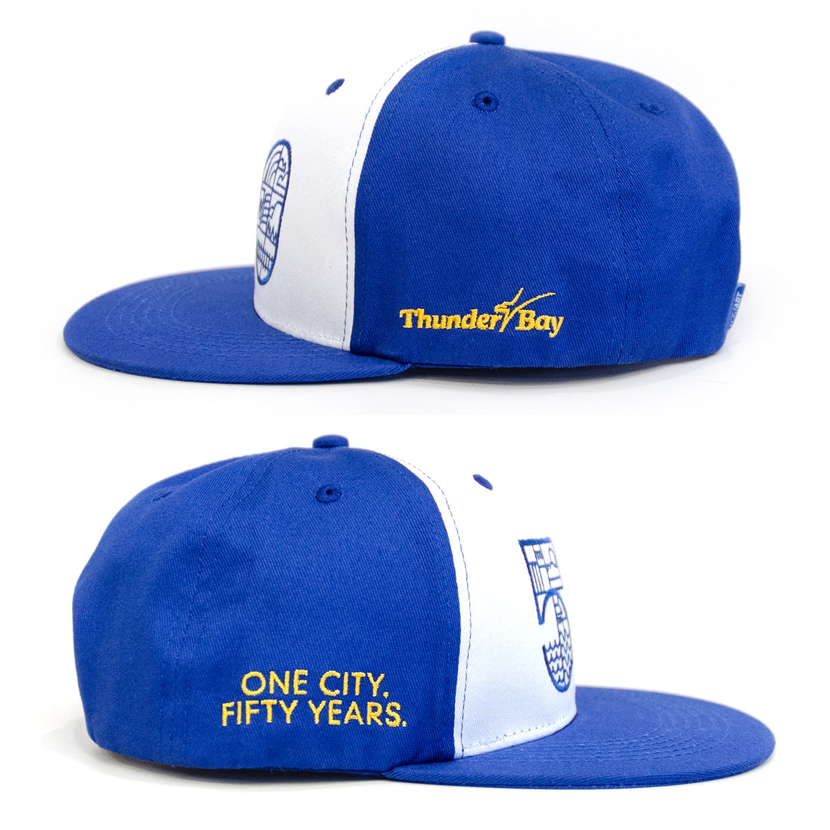 Lost Art Canada - blue one city snapback hat side view