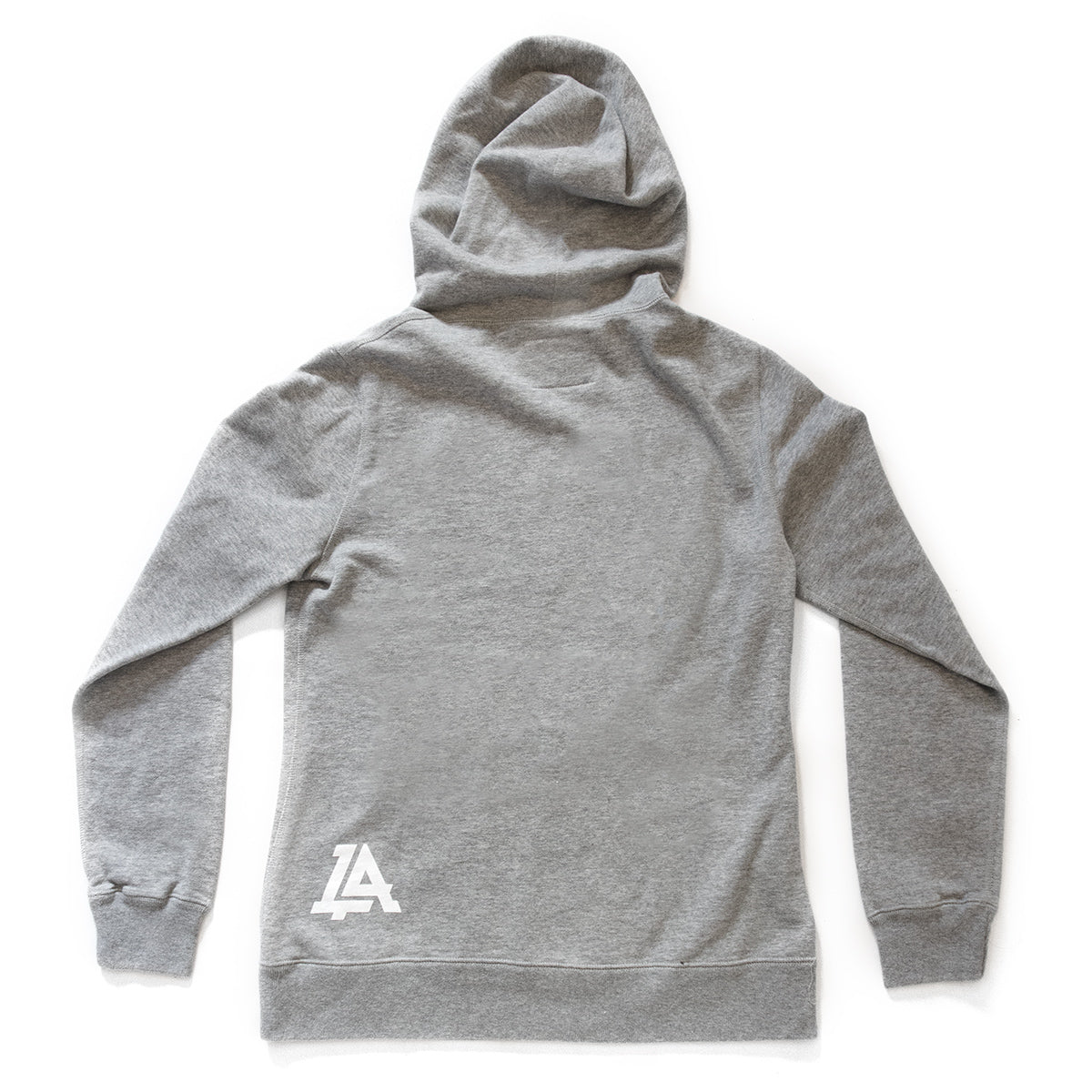 Lost Art Canada - grey icon womens hoodie sweatshirt back view