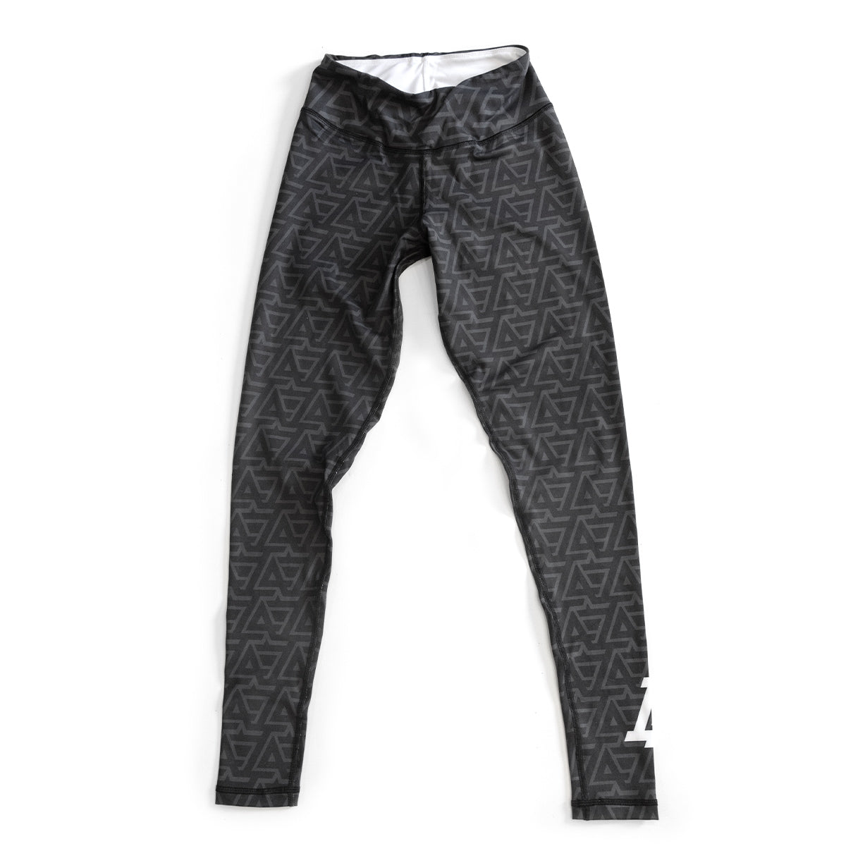 Lost Art Canada - black and grey leggings LA design front view