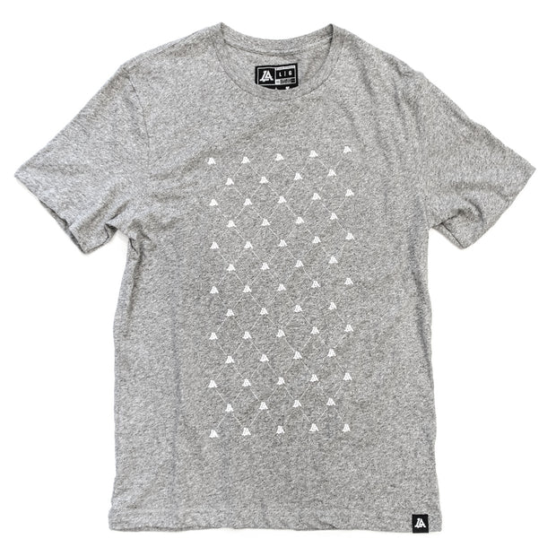 Lost Art Canada - white on grey vintage gridlock tee front view