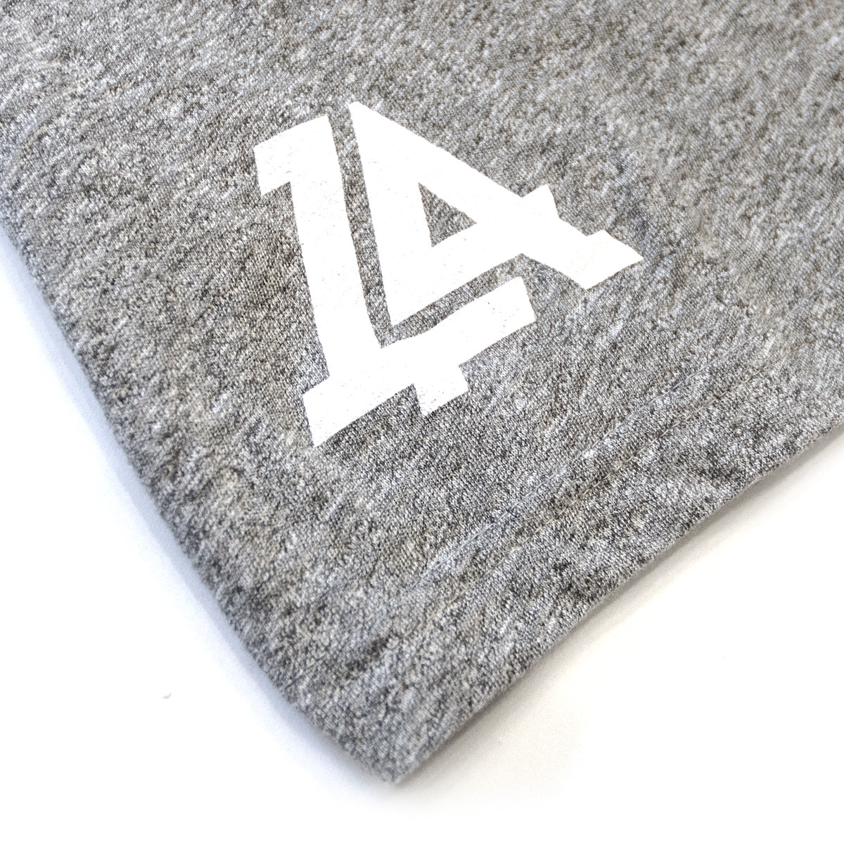 Lost Art Canada - white on grey vintage gridlock tee back logo view