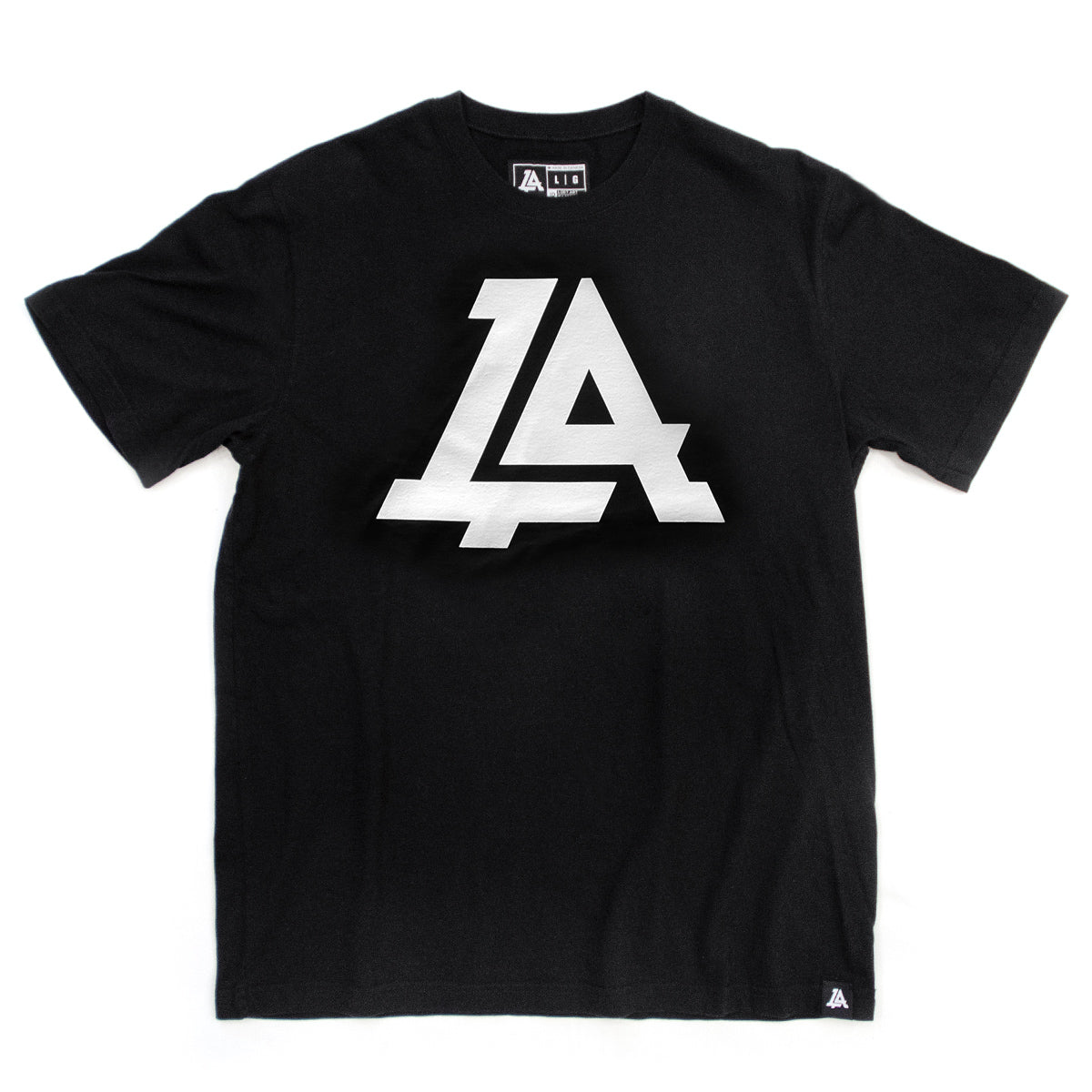 Lost Art Canada - white on black lost art icon logo tee front view