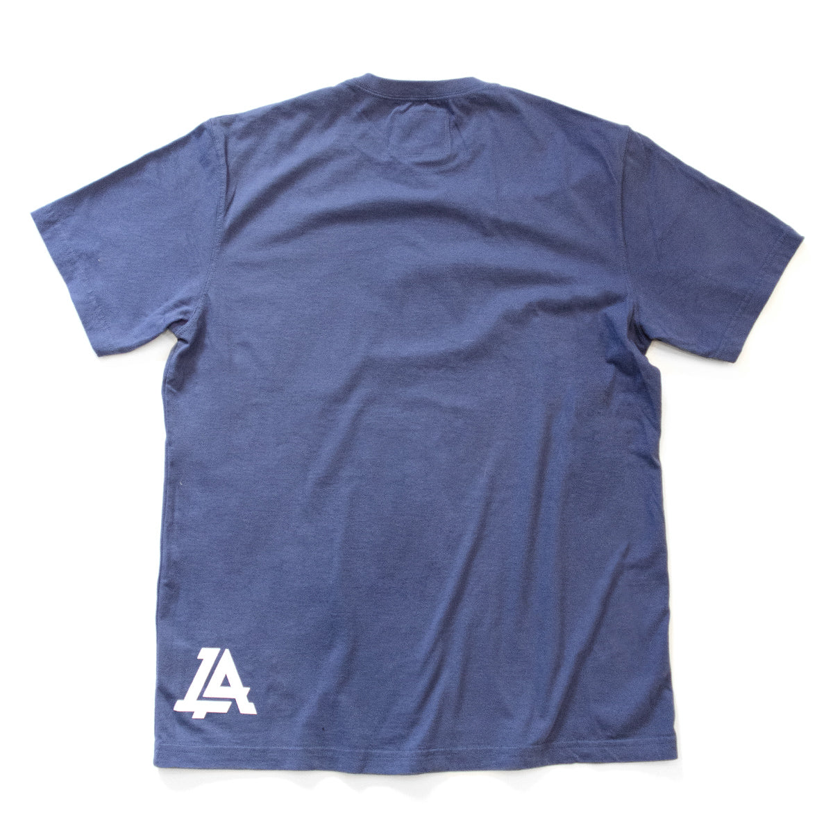Lost Art Canada - white on royal blue lost art icon logo tee back view