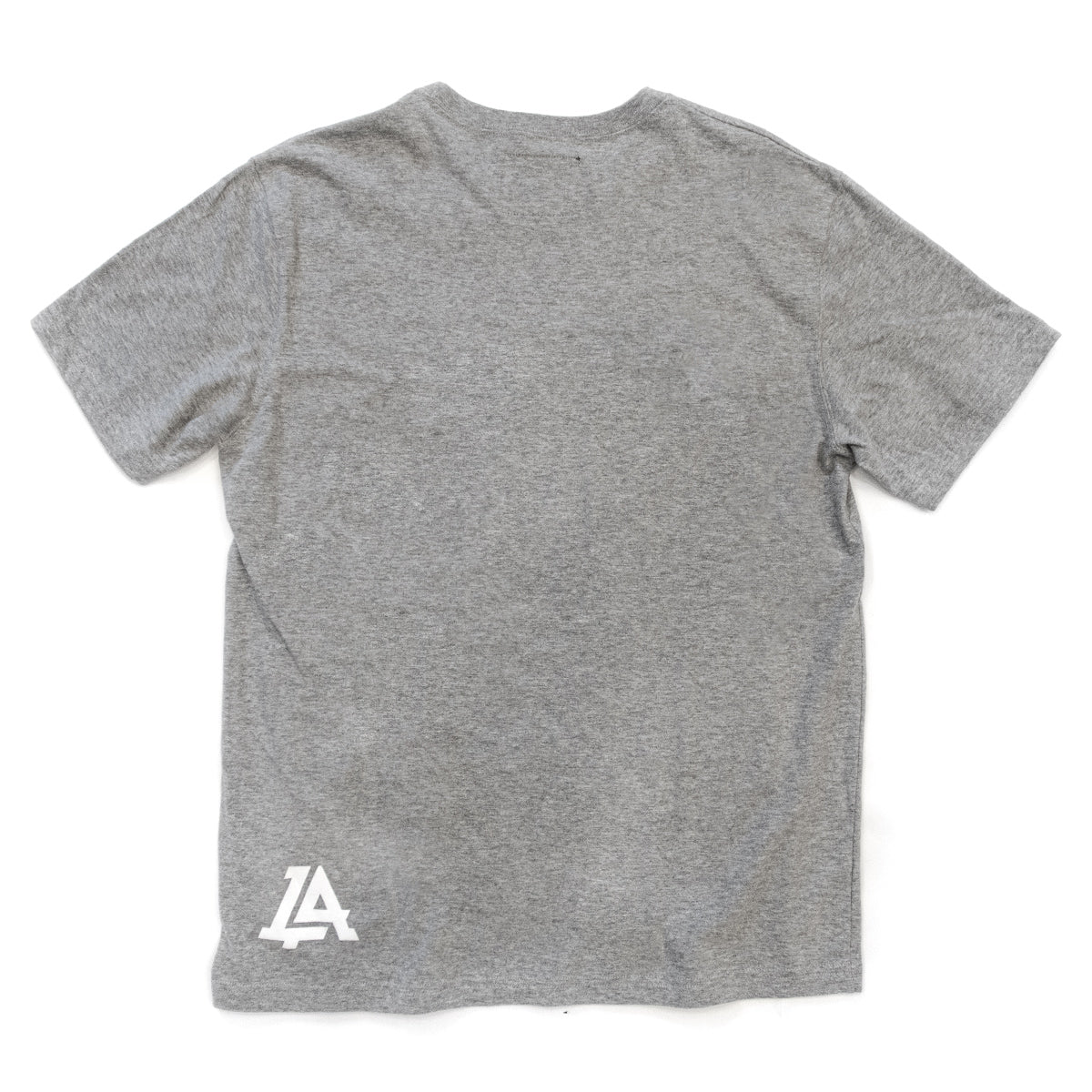 Lost Art Canada - white on grey basic logo tee back view