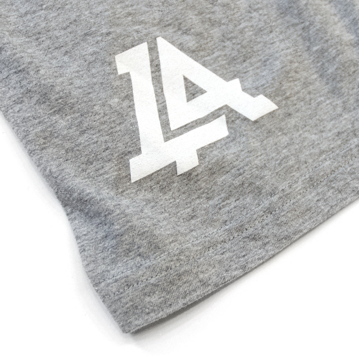 Lost Art Canada - white on grey basic women logo tee back logo view