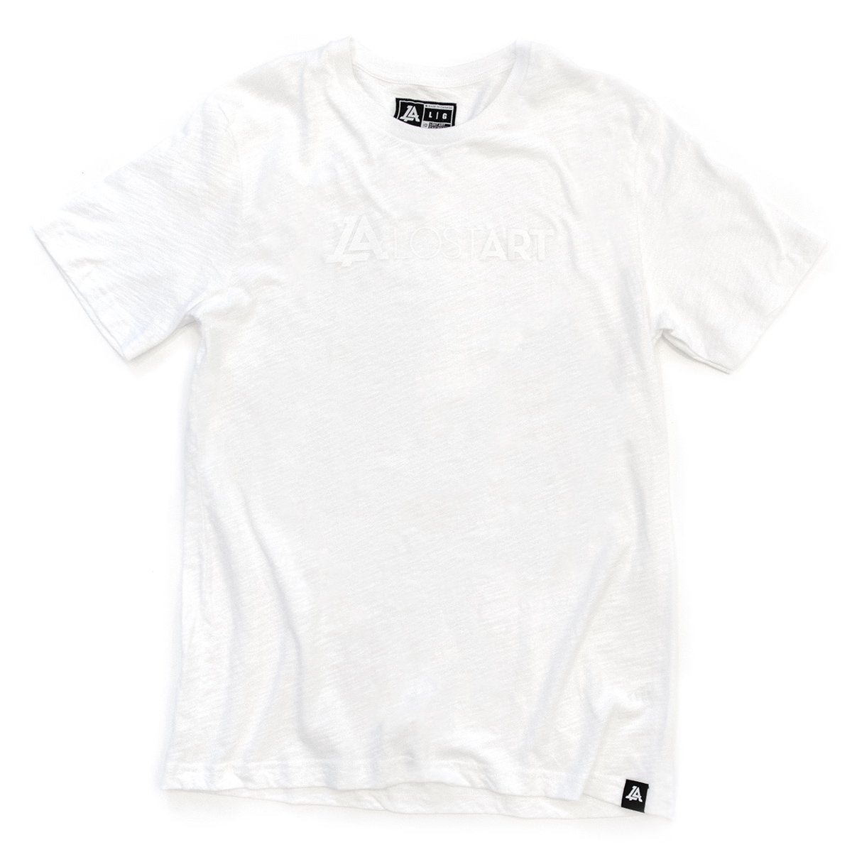 Lost Art Canada - white on white ghost logo tee front view