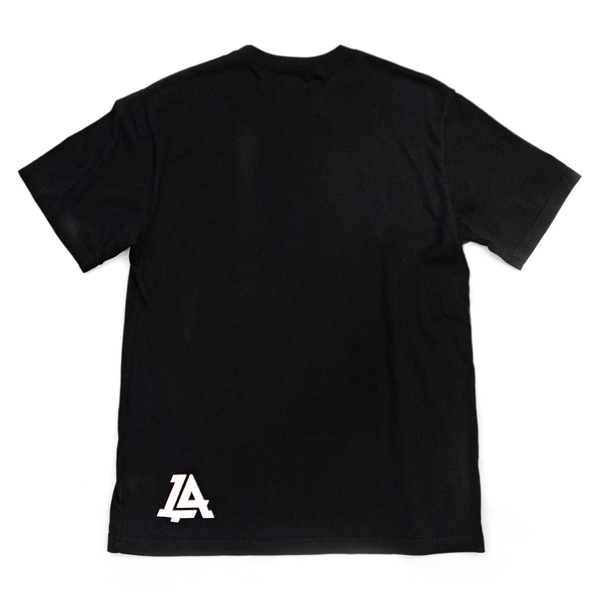 Lost Art Canada - white on black monogram logo tee back view