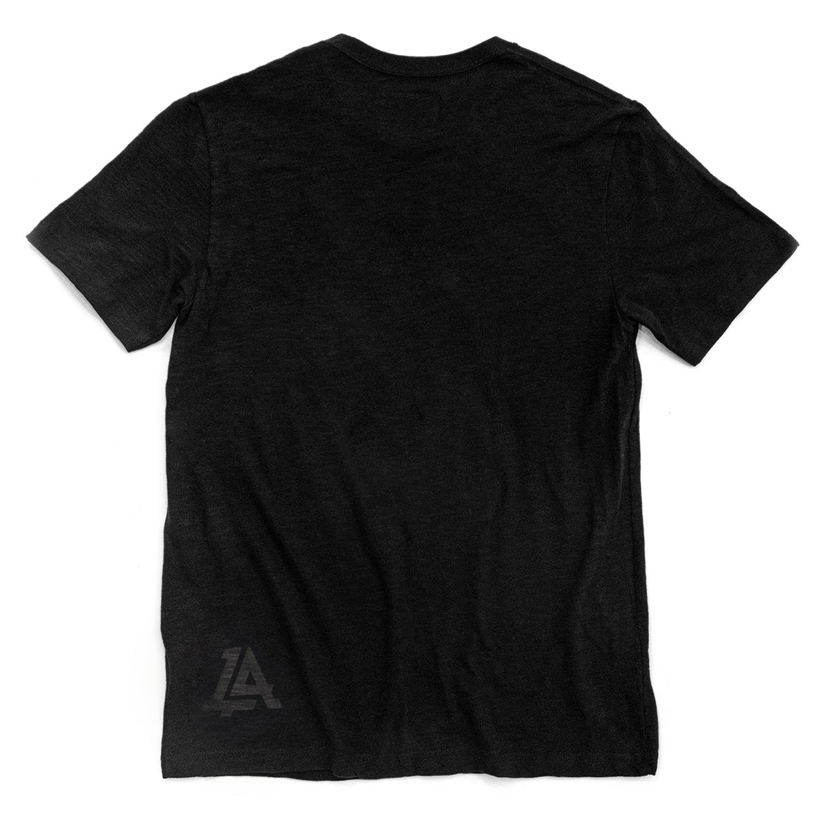 Lost Art Canada - black on black lost monogram tee back view