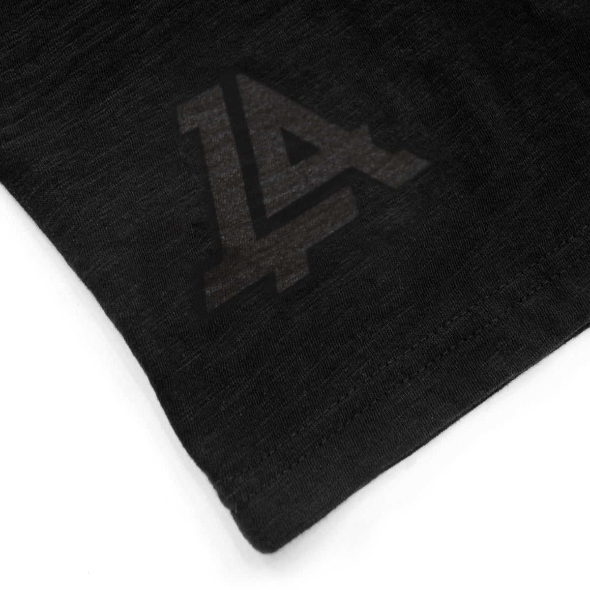 Lost Art Canada - black on black lost monogram tee back logo view