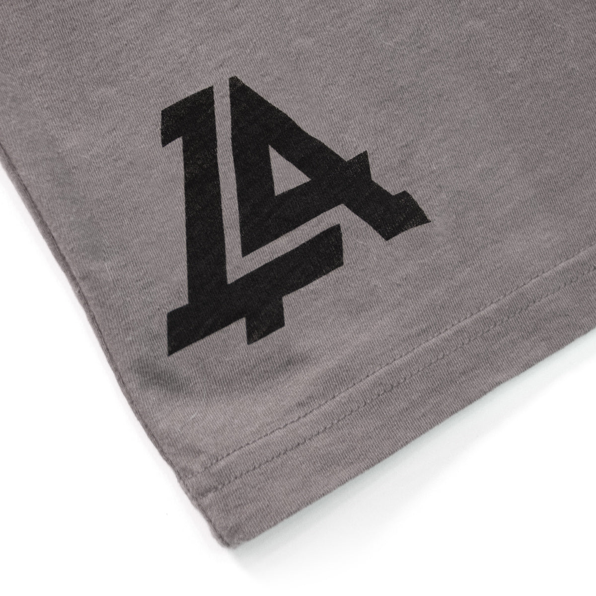 Lost Art Canada - black on slate grey monogram logo tee back logo view