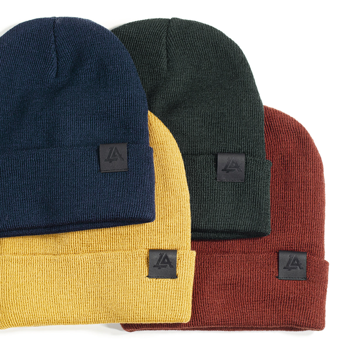 Lost Art Canada - earthy yellow blue red green wool winter toques