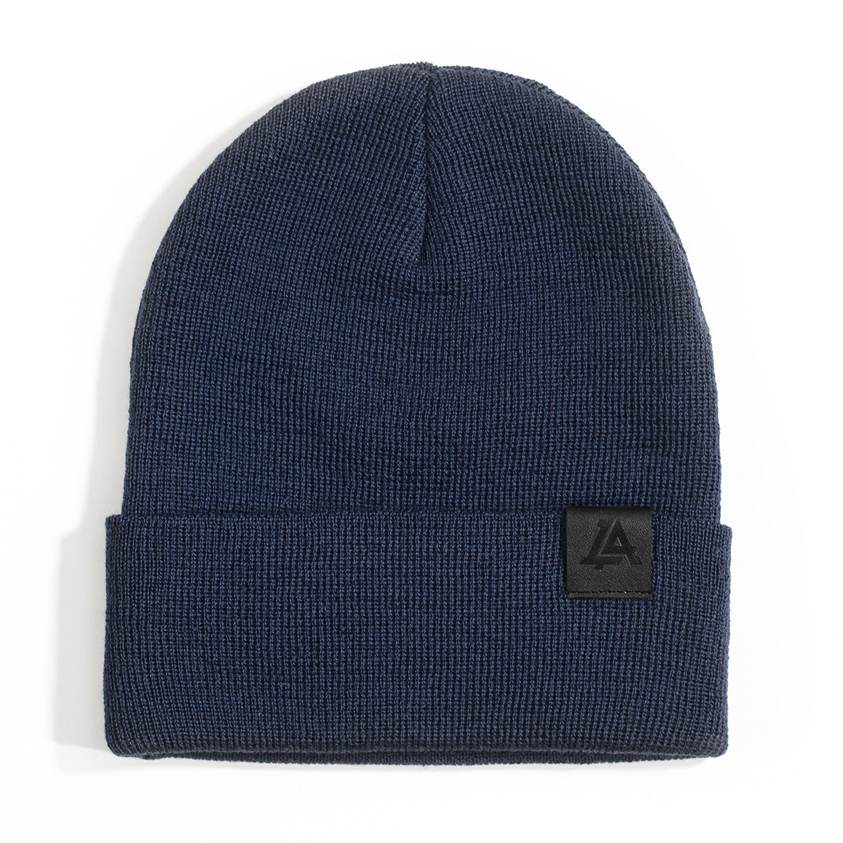 Lost Art Canada - blue wool winter toque front view