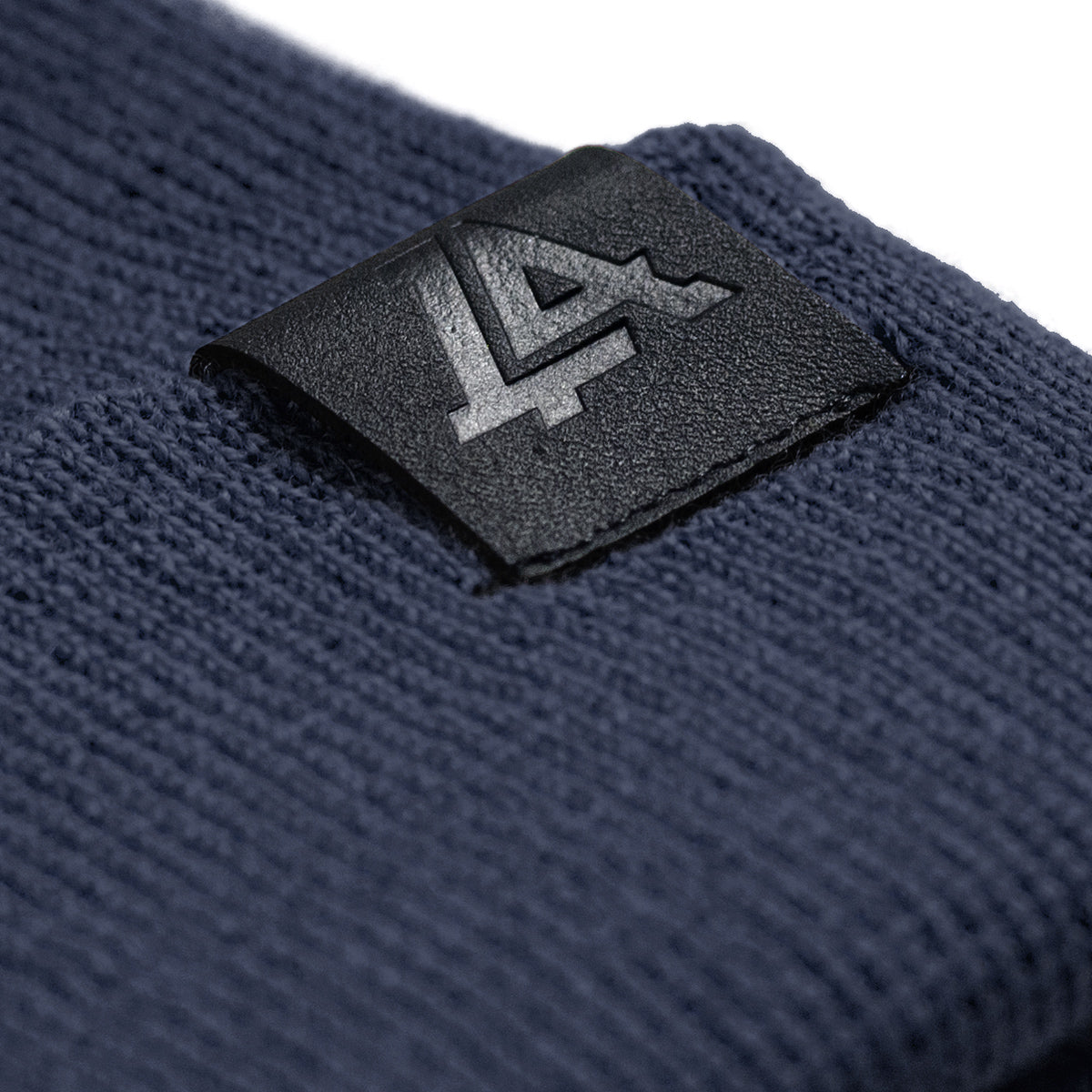 Lost Art Canada - blue wool winter toque tag view
