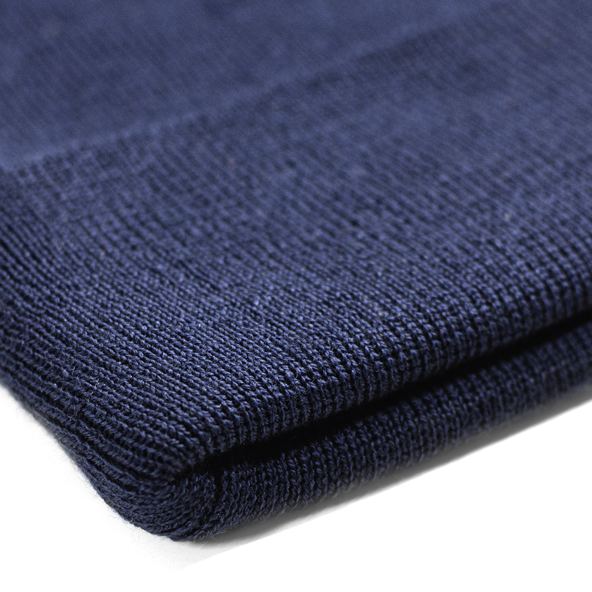 Lost Art Canada - blue wool winter toque close up view