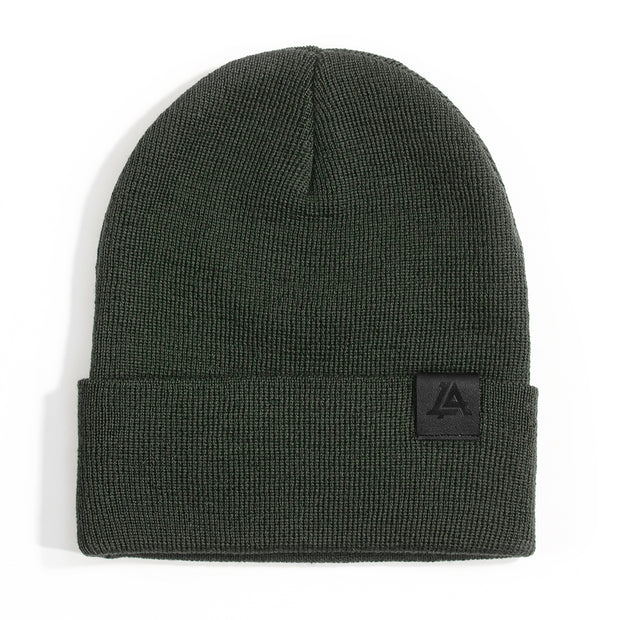 Lost Art Canada - green wool winter toque front view
