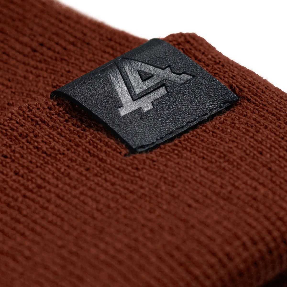 Lost Art Canada - red wool winter toque tag view