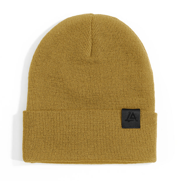 Lost Art Canada - yellow wool winter toque front view
