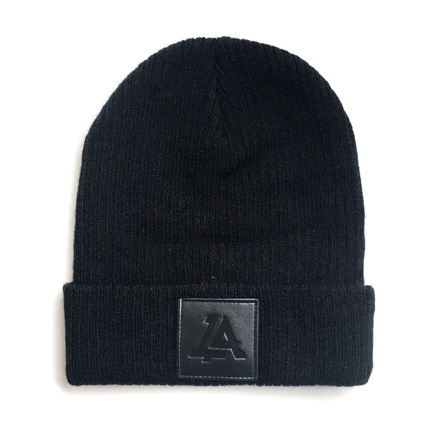 Lost Art Canada - black sidekick winter toque front view
