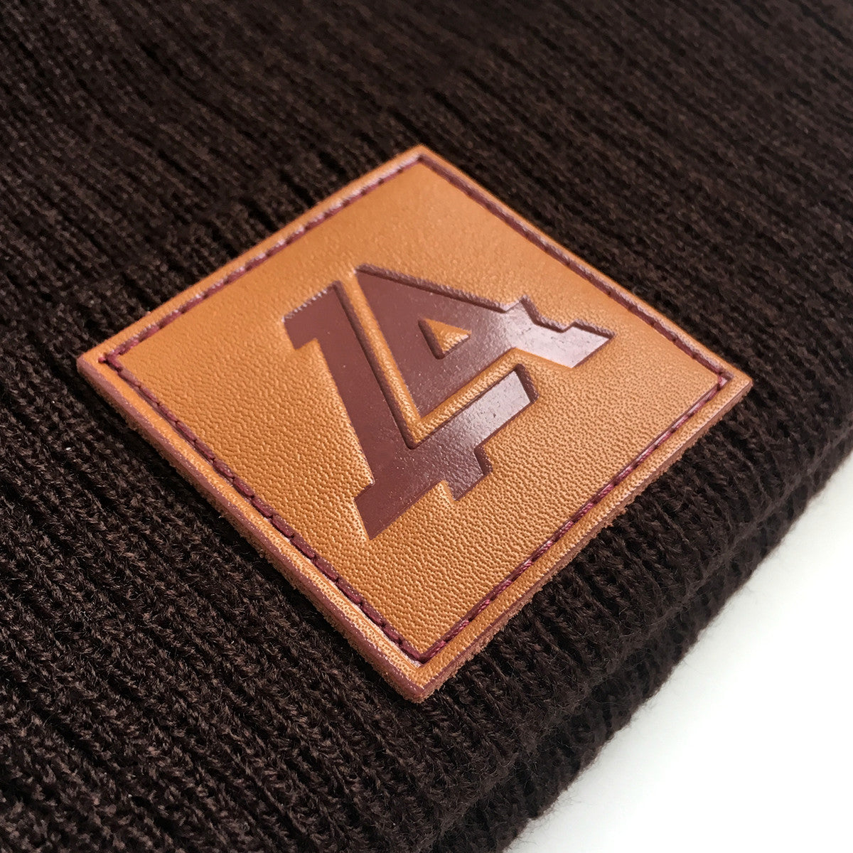 Lost Art Canada - brown sidekick winter toque close up view