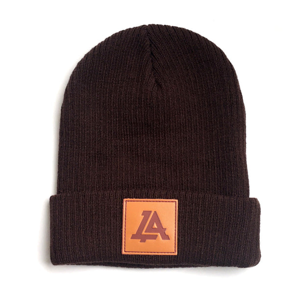 Lost Art Canada - brown sidekick winter toque front view