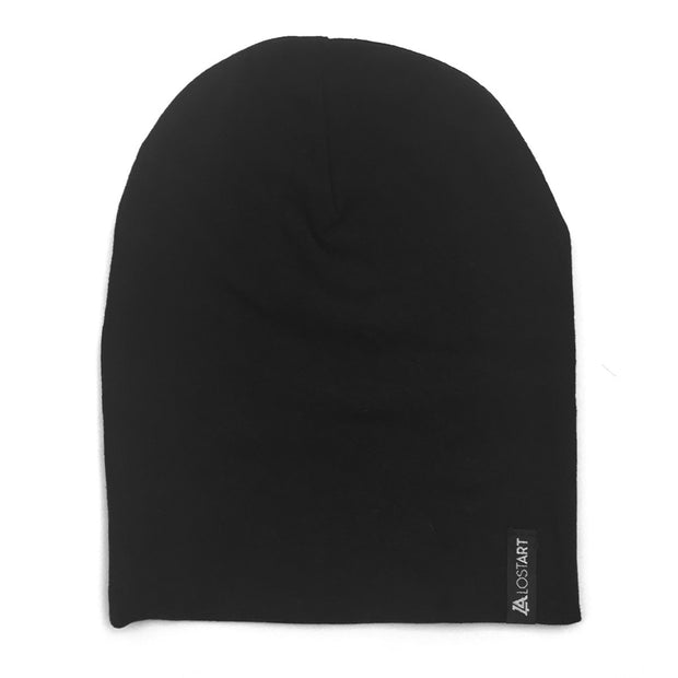 Lost Art Canada - black toddler winter toque front view