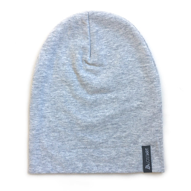 Lost Art Canada - grey toddler winter toque front view