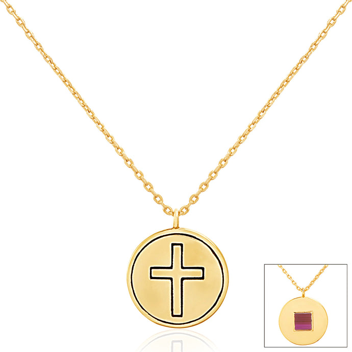 Circle Cross Pendant Necklace - WearABible Jewelry