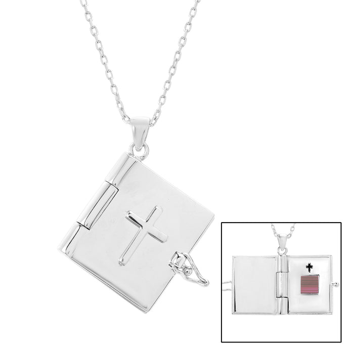 Cross Bible Locket Necklace - WearABible Jewelry