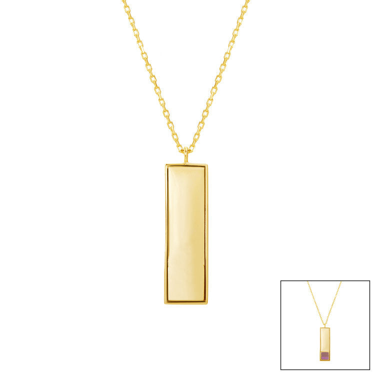 Rectangle Pendant Necklace - WearABible Jewelry