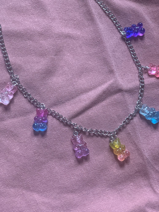 Collier Teddy Jelly Glitter