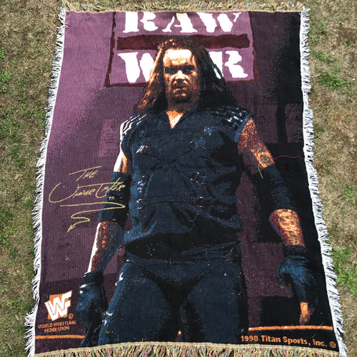 Undertaker Raw Is War Rug/Throw