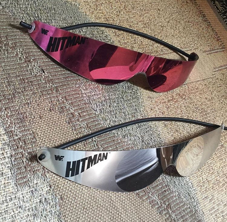 Bret Hart Silver And Pink Shades