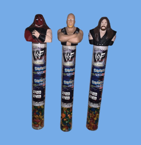WWF Tear Jerkers Candy (Lot Of 3 New Sealed)