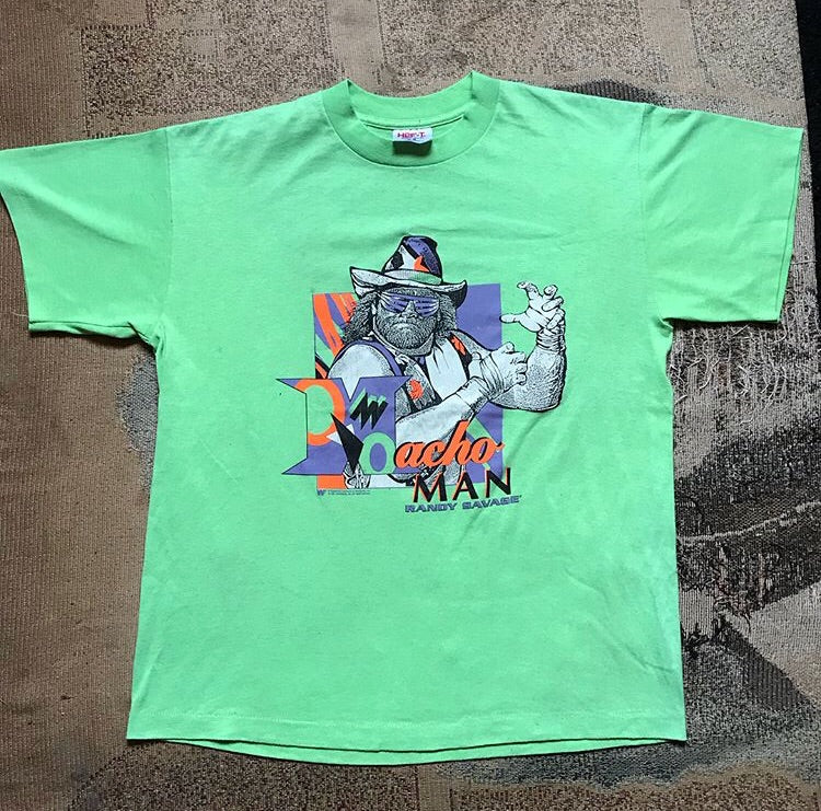WWF Lime Green Macho Man T Shirt