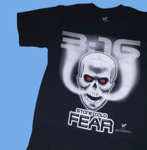 WWF Stone Cold 'Austin 3.16 Fear' Tee (New)