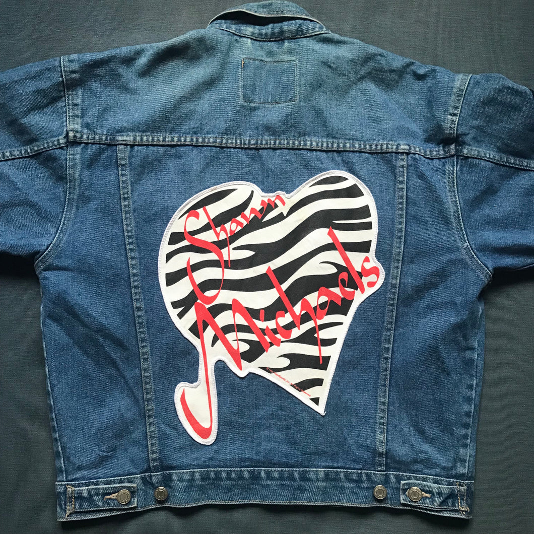Shawn Michaels Zebra Print Denim Jacket