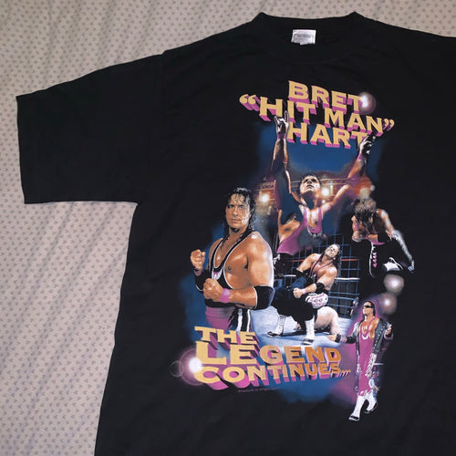 "WWF Bret Hart ""The Legend Continues"" Tee"