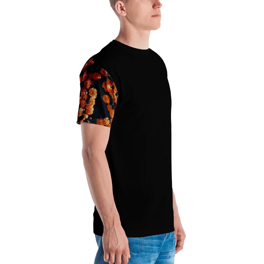 Floral Sleeve All Over T-Shirt