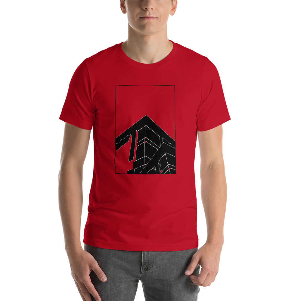 "Abstract Architecture ""Black Print"" Unisex T-Shirt"