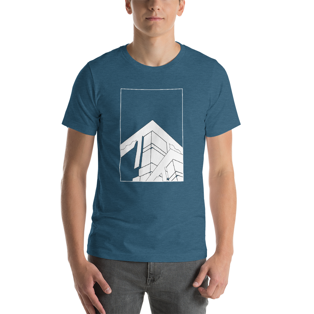 "Abstract Architecture ""White Print"" Unisex T-Shirt"