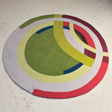 Green Frank Circle – Hand Knotted Pile Rug
